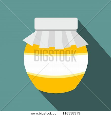 Honey jar with cover icon