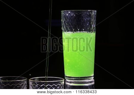 One Beautiful Bright Green Shot