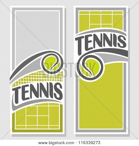Creative images for text on the subject of tennis