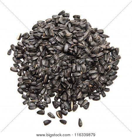 black seeds on a white background isolated