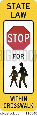 United States Mutcd Crosswalk Road Sign - Stop For Children