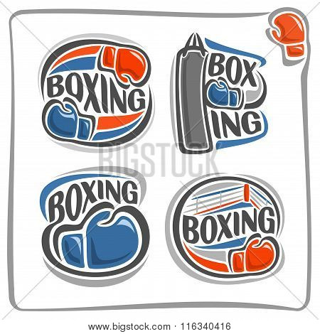 A set of illustrations on the theme of boxing