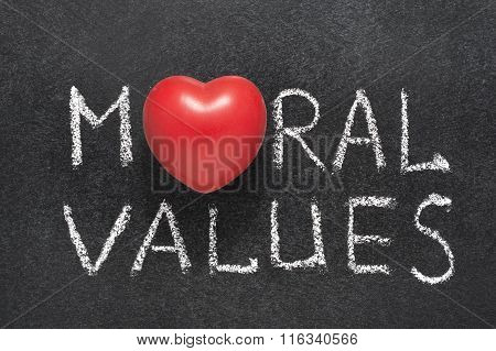 Moral Values Heart