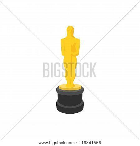 Golden statue cartoon icon