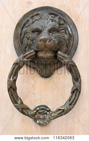 The Lion's Head As A Doorknocker