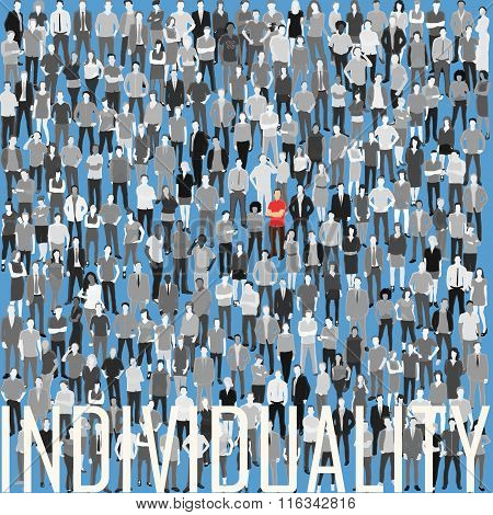 be individual being in the crowd