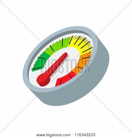 Speedometer cartoon icon