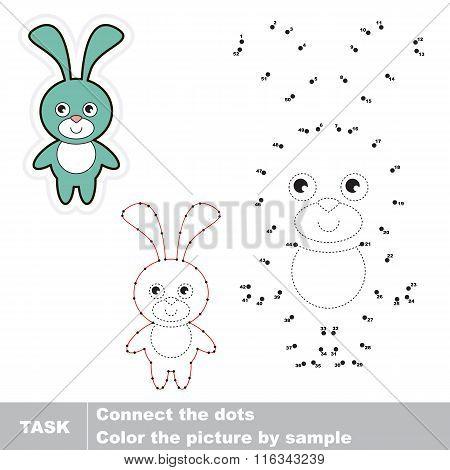 Cute Rabbit . Vector numbers game.