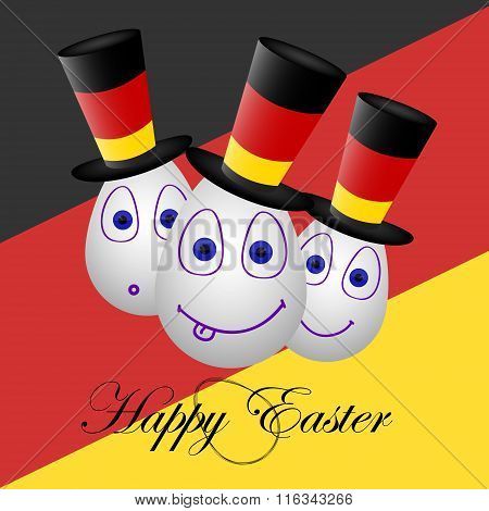 Card Happy Easter For Germany