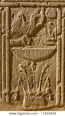 Antigos hieróglifos egípcios