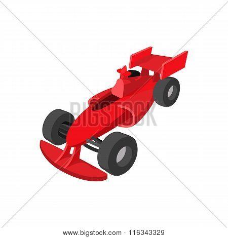 Speeding race car cartoon icon