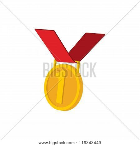 Golden medal cartoon icon
