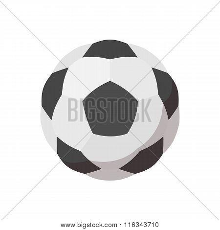 Soccer ball cartoon icon