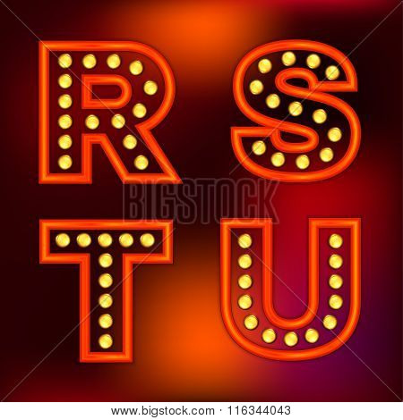 Retro Lights Letters