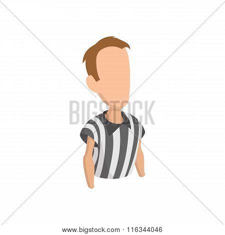 Football referee cartoon icon