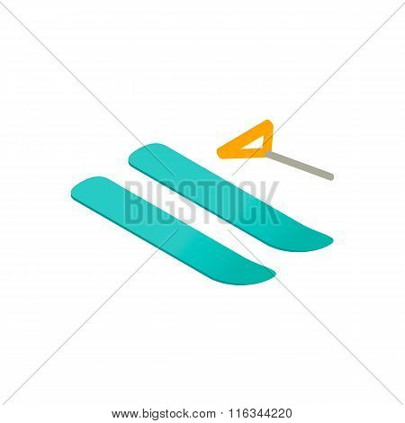 Water skiing 3d isometric icon
