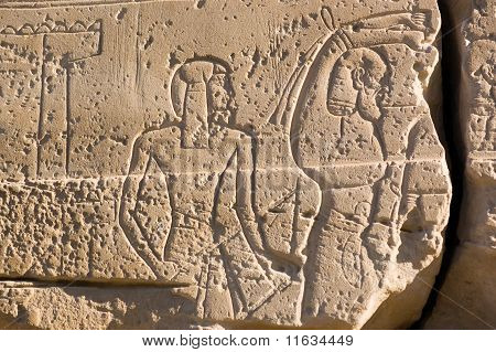 Pharaoh Ramses II and slave