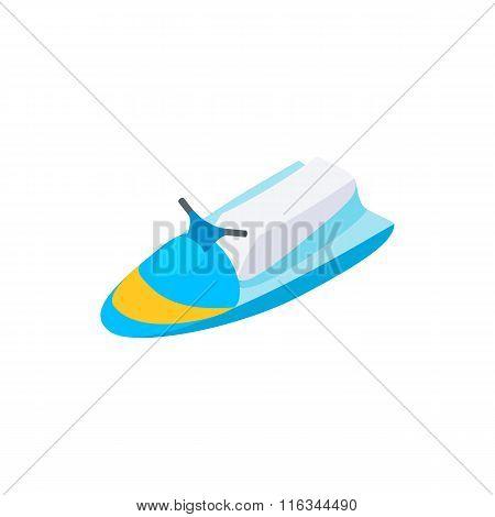 Jet ski 3d isometric icon