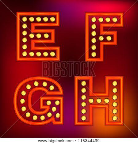 Retro Lights Letters