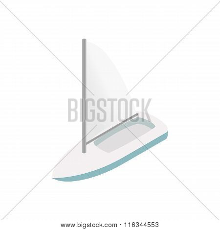 Sailing yacht isometric 3d icon