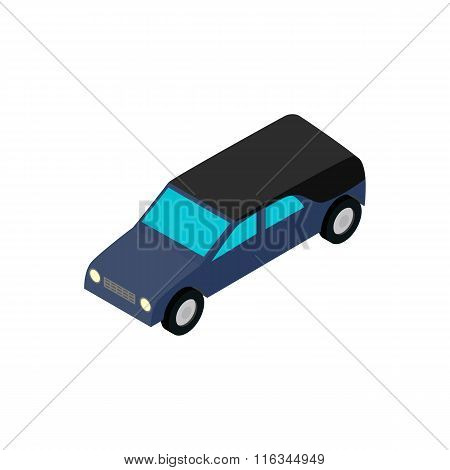 Hearse isometric 3d icon