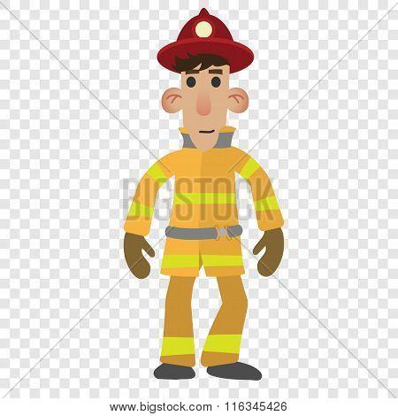 Firefighter cartoon character