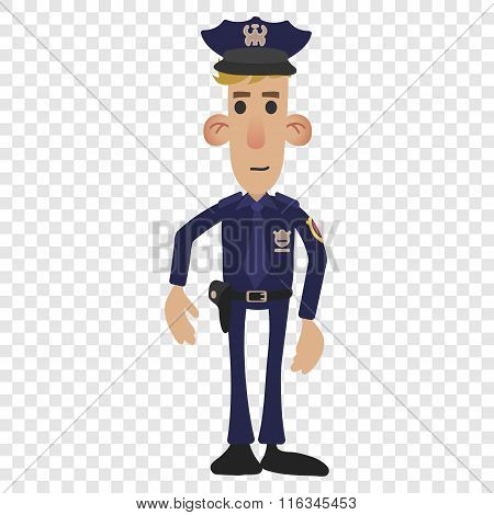 Police man cartoon