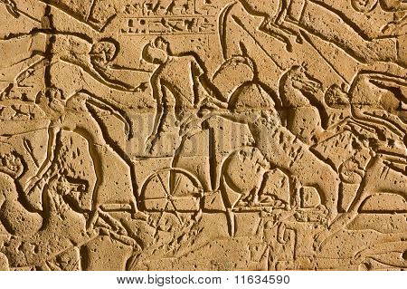 Chariots at the Battle of Kadesh, Ramesseum