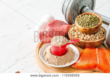 Selection of protein sourses