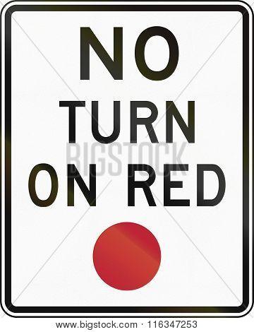 United States Mutcd Regulatory Road Sign - No Turn On Red