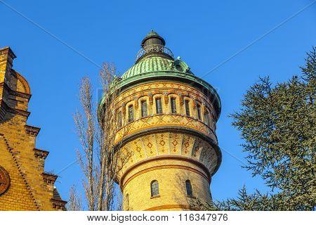 Famous Watertower In Biebrich, Wiesbaden