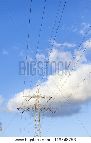Power Tower Under Blue Sky