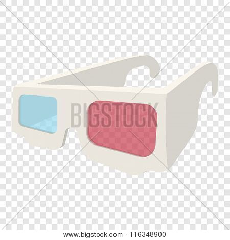 3D Glasses cartoon icon
