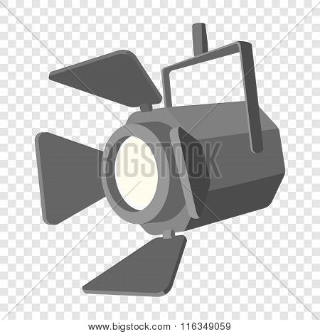 Movie spotlight cartoon icon