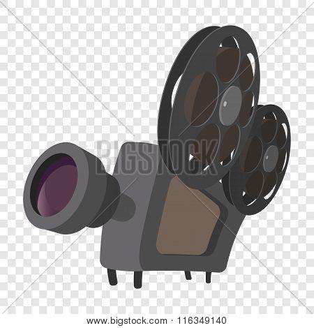Cinema camera cartoon icon