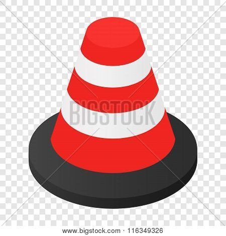 Traffic cone isometric 3d icon