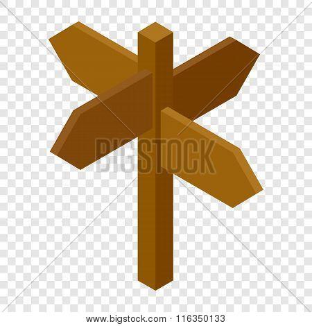 Signpost isometric 3d icon