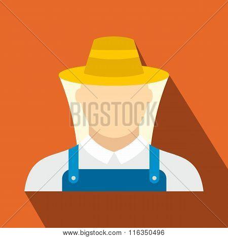 Beekeeper flat icon