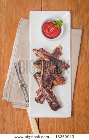 Pork Ribs With Tomatoe Sauce