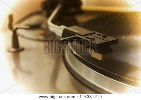 Record Player Stylus In Vintage Tone