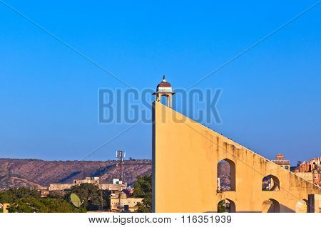 Astronomical Instrument At Jantar Mantar Observatory - Jaipur, Rajasthan, India