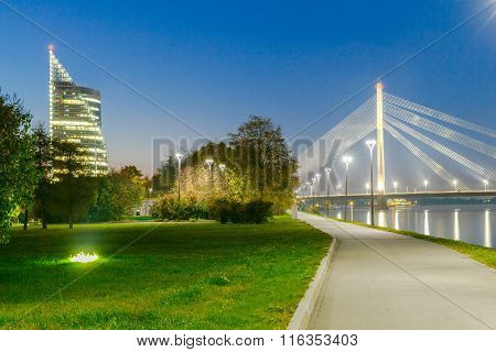 Riga. Cable-stayed bridge.