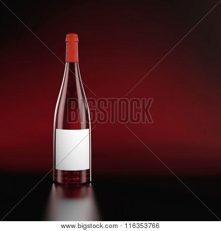 ?losed Burgundy Red Wine Bottle.