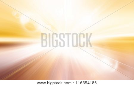 Centered Yellow Orange Summer Sun Light Burst. If You Enjoy The Hot And Glittering Summer Sun, That