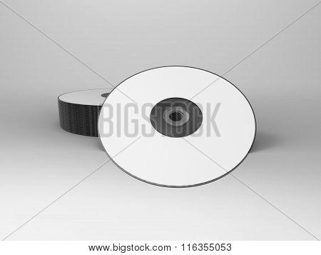 Branding Stationary 3D Render Cd