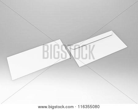 Branding Stationary 3D Render Envelope
