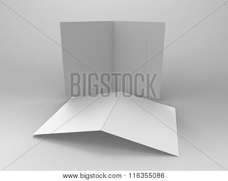 Branding Stationary 3D Render Folder