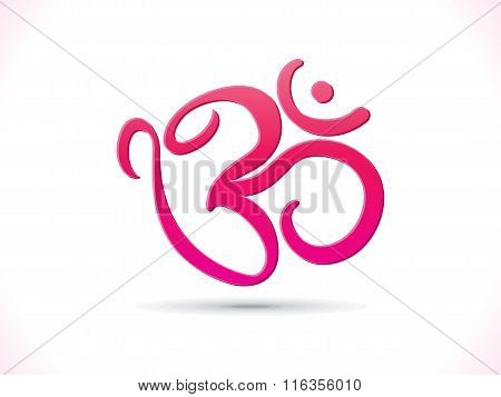 Abstract Artistic Pink Om Text