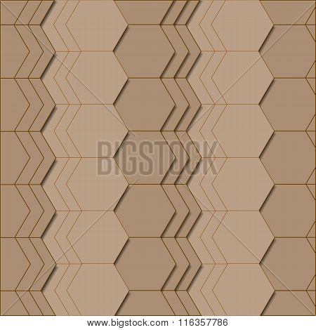 Abstract geometric pattern in brown colors.
