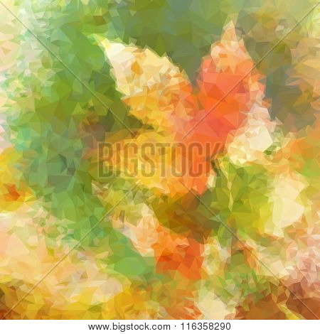 Abstract Pattern with Leaves